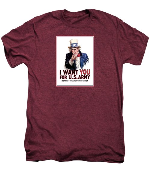 Uncle Sam -- I Want You Men's Premium T-Shirt by War Is Hell Store