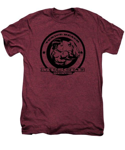 Venice Beach Arnold Muscle Men's Premium T-Shirt by Alex Soro