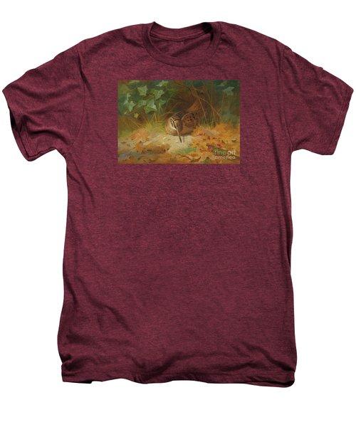 Woodcock Men's Premium T-Shirt by Celestial Images