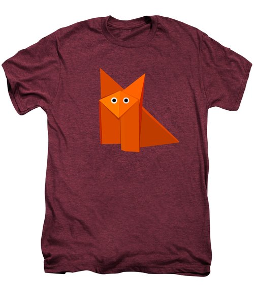 Yellow Cute Origami Fox Men's Premium T-Shirt by Boriana Giormova