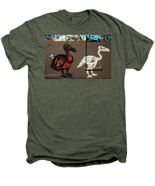 Artistic Graffiti On The U2 Wall Men's Premium T-Shirt by Panoramic Images