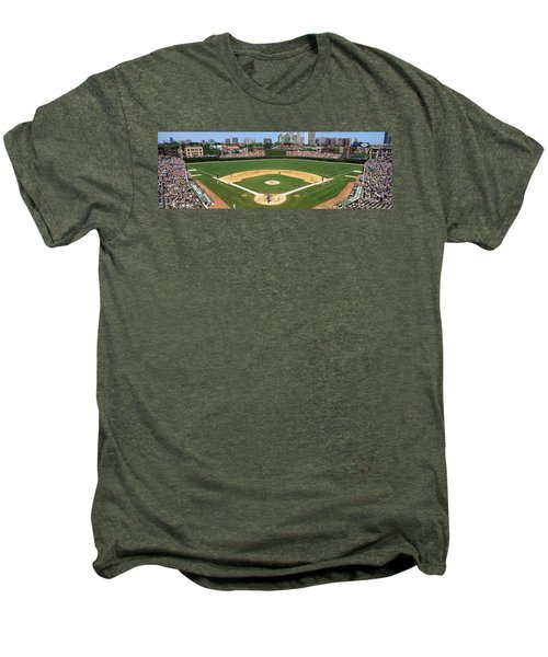 Usa, Illinois, Chicago, Cubs, Baseball Men's Premium T-Shirt by Panoramic Images
