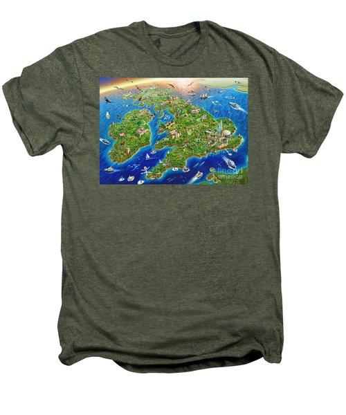 British Isles Men's Premium T-Shirt by Adrian Chesterman