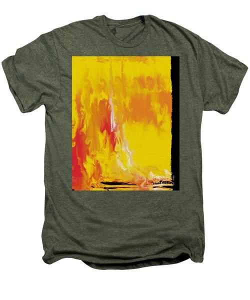 Lemon Yellow Sun Men's Premium T-Shirt by Roz Abellera Art