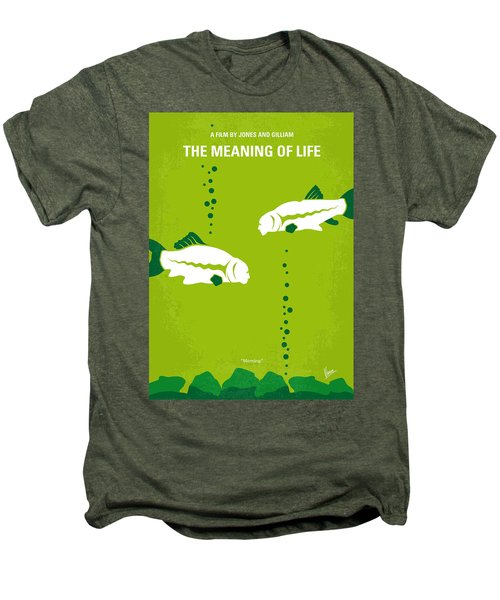 No226 My The Meaning Of Life Minimal Movie Poster Men's Premium T-Shirt by Chungkong Art