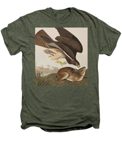 The Common Buzzard Men's Premium T-Shirt by John James Audubon