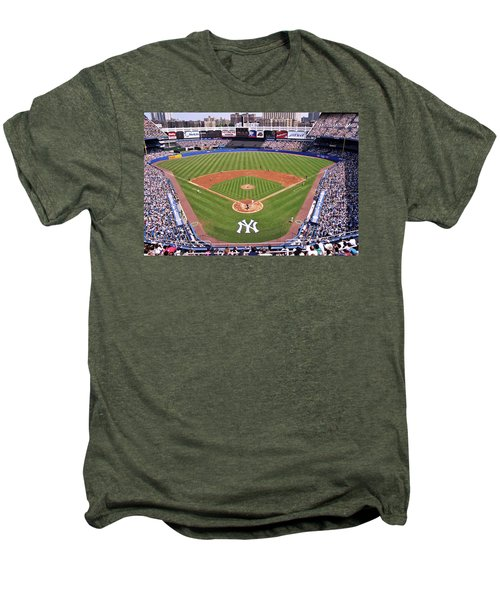 Yankee Stadium Men's Premium T-Shirt by Allen Beatty