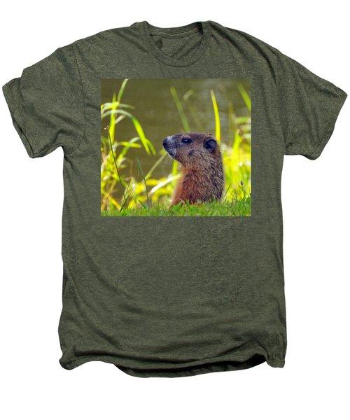Chucky Woodchuck Men's Premium T-Shirt by Paul Ward
