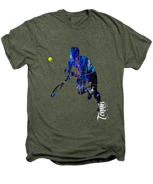 Mens Tennis Collection Men's Premium T-Shirt by Marvin Blaine