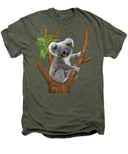 Blue-eyed Baby Koala Men's Premium T-Shirt by Glenn Holbrook