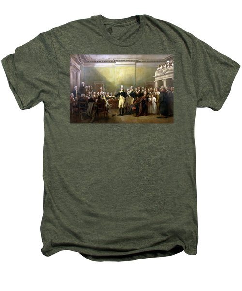 General Washington Resigning His Commission Men's Premium T-Shirt by War Is Hell Store
