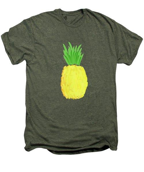 Pineapple Men's Premium T-Shirt by Priscilla Wolfe