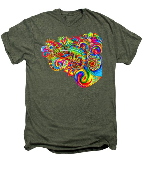 Psychedelizard Men's Premium T-Shirt by Rebecca Wang