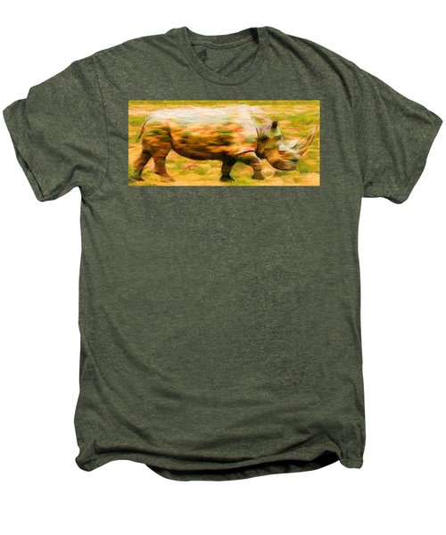 Rhinocerace Men's Premium T-Shirt by Caito Junqueira
