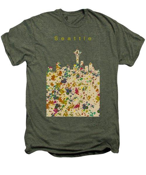 Seattle Skyline 1 Men's Premium T-Shirt by Alberto RuiZ