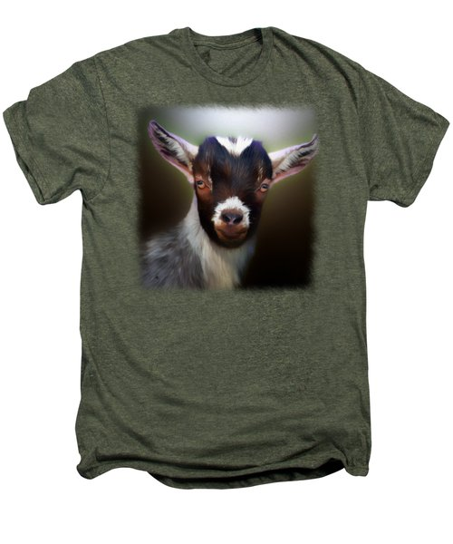 Skippy - Goat Portrait Men's Premium T-Shirt by Linda Koelbel