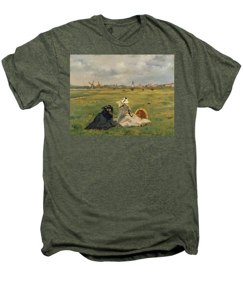The Swallows Men's Premium T-Shirt by Edouard Manet