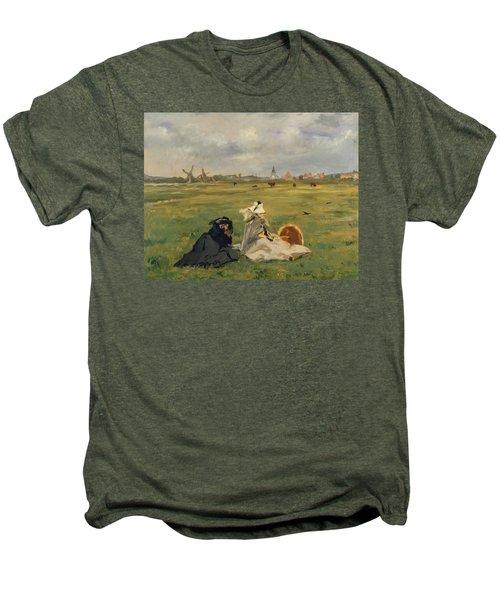 The Swallows Men's Premium T-Shirt by Edouard Manet