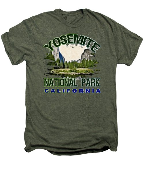 Yosemite National Park Men's Premium T-Shirt by David G Paul