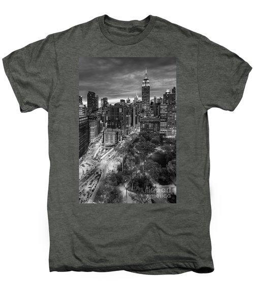 Flatiron District Birds Eye View Men's Premium T-Shirt by Susan Candelario