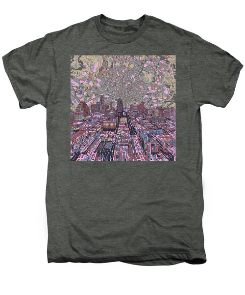 Austin Texas Vintage Panorama 2 Men's Premium T-Shirt by Bekim Art