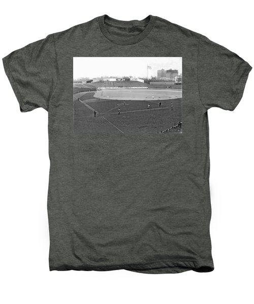 Baseball At Yankee Stadium Men's Premium T-Shirt by Underwood Archives