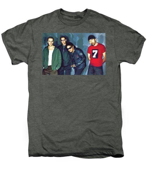 Bono U2 Artwork 5 Men's Premium T-Shirt by Sheraz A
