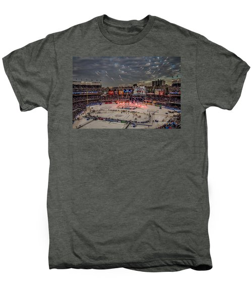 Hockey At Yankee Stadium Men's Premium T-Shirt by David Rucker