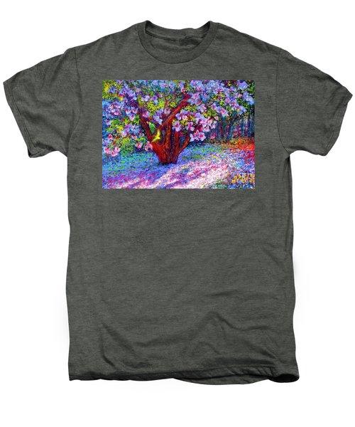 Magnolia Melody Men's Premium T-Shirt by Jane Small