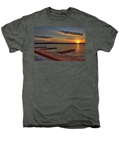Sunset Docks On Lake Oconee Men's Premium T-Shirt by Reid Callaway