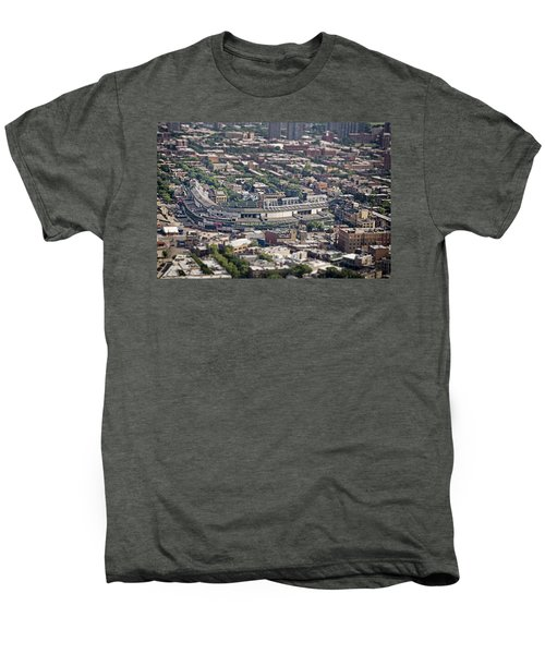 Wrigley Field - Home Of The Chicago Cubs Men's Premium T-Shirt by Adam Romanowicz