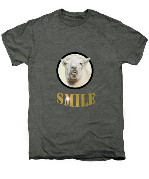 Alpaca Smile  Men's Premium T-Shirt by Rob Hawkins