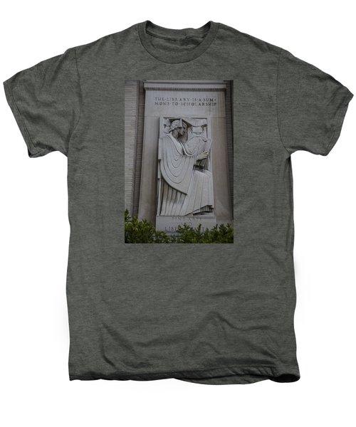 Fine Art Library Penn State  Men's Premium T-Shirt by John McGraw