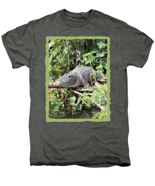 Gator In Green Men's Premium T-Shirt by Carol Groenen
