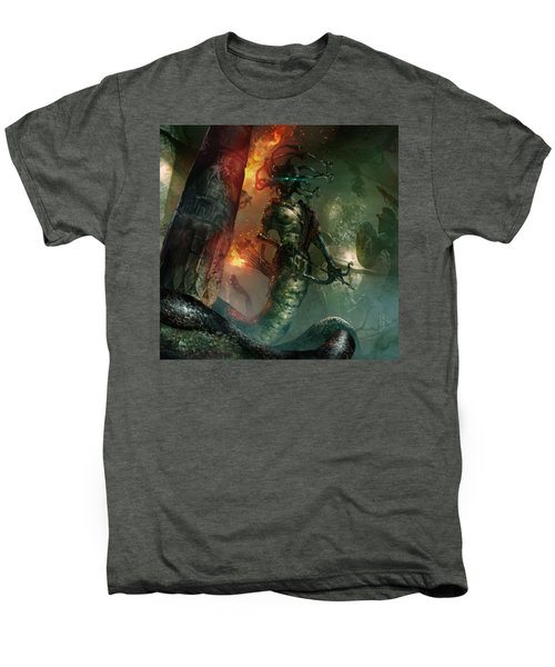 In The Lair Of The Gorgon Men's Premium T-Shirt by Ryan Barger
