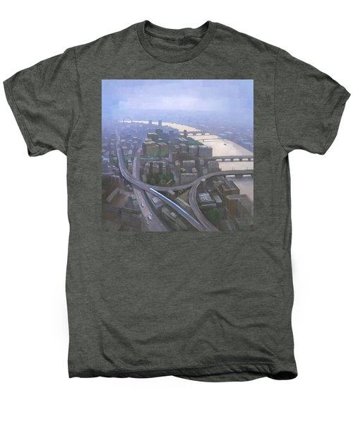 London, Looking West From The Shard Men's Premium T-Shirt by Steve Mitchell