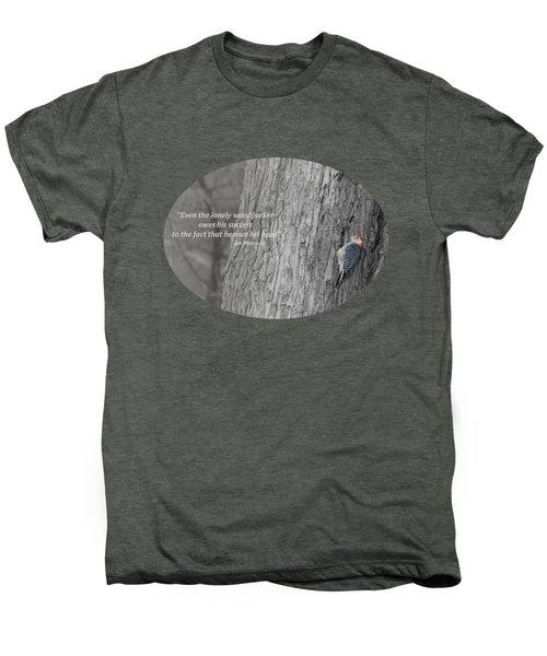 Lonely Woodpecker Men's Premium T-Shirt by Jan M Holden