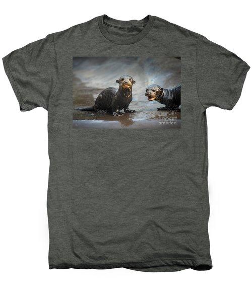 Otter Pup Pair Men's Premium T-Shirt by Jamie Pham