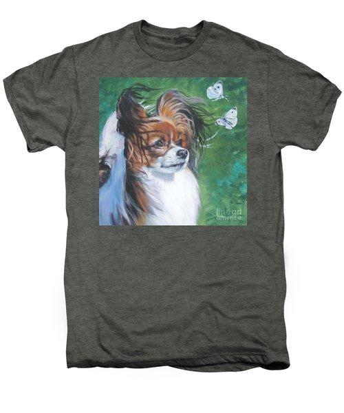 Papillon And Butterflies Men's Premium T-Shirt by Lee Ann Shepard