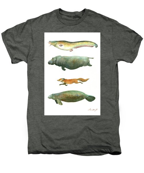 Swimming Animals Men's Premium T-Shirt by Juan Bosco