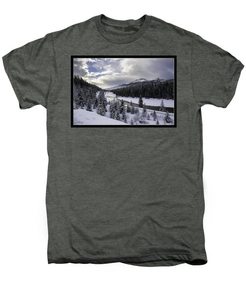 Winter In The Rockies Men's Premium T-Shirt by J and j Imagery
