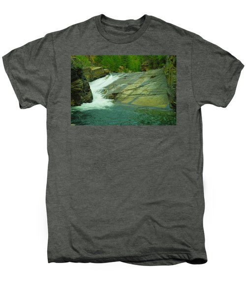 Yak Falls   Men's Premium T-Shirt by Jeff Swan