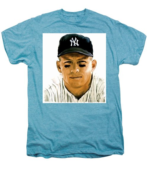 American Icon Mickey Mantle Men's Premium T-Shirt by Iconic Images Art Gallery David Pucciarelli