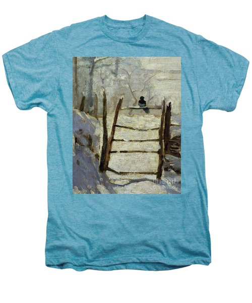 The Magpie Men's Premium T-Shirt by Claude Monet
