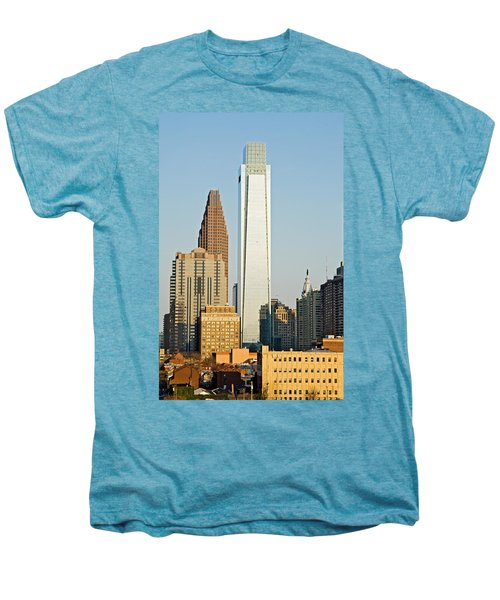 Buildings In A City, Comcast Center Men's Premium T-Shirt by Panoramic Images