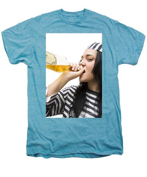 Drinking Detainee Men's Premium T-Shirt by Jorgo Photography - Wall Art Gallery