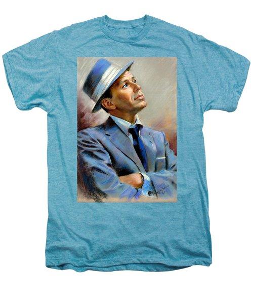 Frank Sinatra  Men's Premium T-Shirt by Ylli Haruni