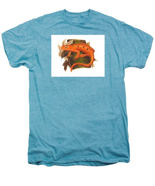 Red Eft Men's Premium T-Shirt by Cindy Hitchcock
