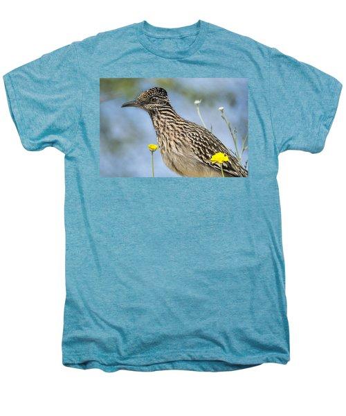 The Greater Roadrunner  Men's Premium T-Shirt by Saija  Lehtonen
