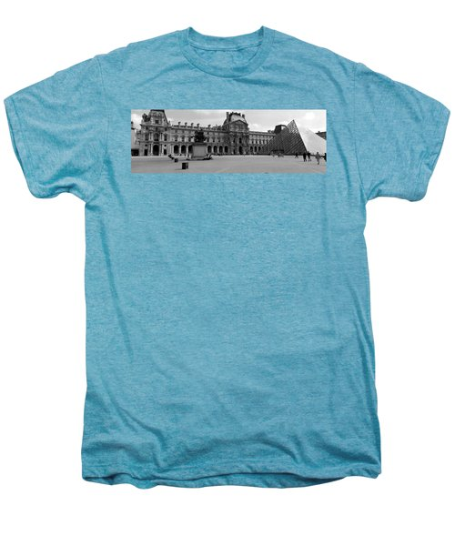 Tourists In The Courtyard Of A Museum Men's Premium T-Shirt by Panoramic Images